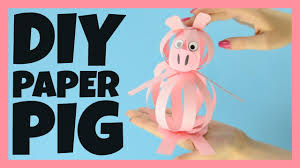 easy paper pig craft farm animal craft idea for kids youtube