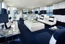 nautical and decor modern interior decorating with blue stripes and nautical decor theme