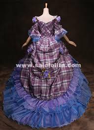 grade customized blue marie antoinette 18th century wedding dress