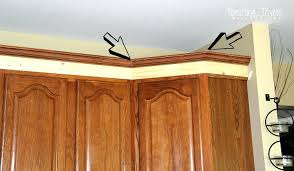 cutting kitchen cabinets breathtaking how to install crown molding on kitchen cabinets
