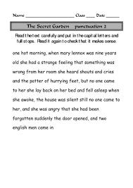 capital letters full stops lesson plans u0026 worksheets