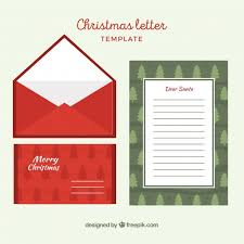 christmas letter and red envelope vector free download