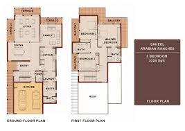 3 bedroom saheel arabian ranches dubai floor plans