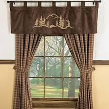 Cabin Style Curtains Walking Moose Valance Up Stuff Pinterest Moose