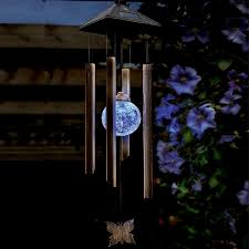 solar powered wind chime light cole and bright solar colour changing wind chime light charlies direct