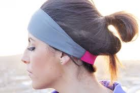 workout headbands fithappy classic exercise headband in matte gray width