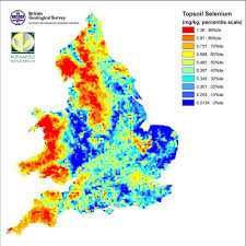 Hertfordshire England Map by Nsi Topsoil Selenium National Soil Inventory Nsi Uk Soil