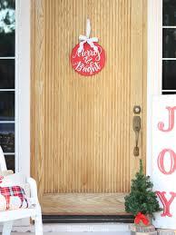 diy front door ornament liz on call