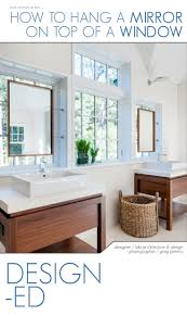 how to hang a mirror on a window hanging mirrors wall spaces