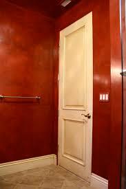 Red Powder Room Venetian Plaster
