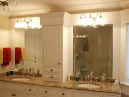creative ideas for bathroom mirrors triple white wooden frame wall