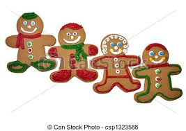 gingerbread man cookies four decorated gingerbread cookies