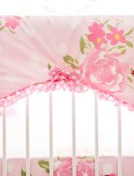 floral crib rail cover floral baby bedding floral crib bedding