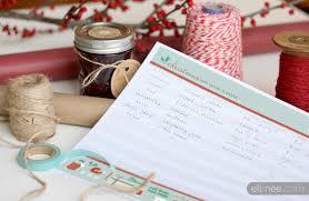 gift list christmas gift planner printable the elli