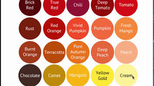 fall color pallette deep autumn color palette bright warm deep seasonal color