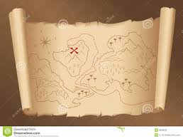 Blank Treasure Map by Treasure Map Old Vintage Antique Paper Royalty Free Stock