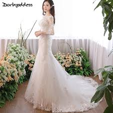 luxury mermaid wedding dresses vintage lace mermaid wedding dresses sleeve ruffles appliques