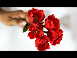 Paper Flowers Video - on this hand work channel you can find easy to follow video