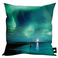 northern lights aurora borealis cushion