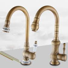 antique brass kitchen faucets aliexpress buy antique brass kitchen faucet water tap swivel