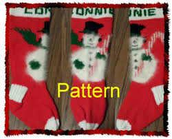 knitting pattern for christmas stocking free snowman and candy cane knit christmas stocking pattern new for 2015