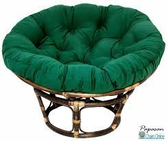 Papasan Patio Chair Furniture Sweet Green Pattern Fabric Tufted Cushion In Blue