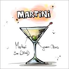 martini cocktail cartoon hand drawn illustration of cocktail martini vector collection