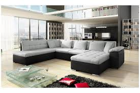 canape en canapé dangle en u oara 78 places tissu noir design achat canapé