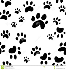 dog paw print vector seamless wallpaper pattern of cute dog