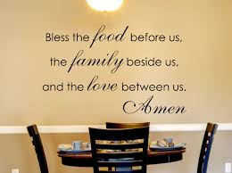 wall decals for home bless food quote wall decals by