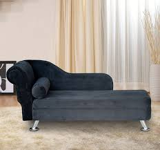 Black Chaise Lounge Deluxe Black Chaise Recliner Lounge Sofa Day Bed Bolster Cushion