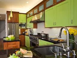Subway Tiles For Backsplash In Kitchen Kitchen Enchanting Brown And Green Kitchen Cabinets With White