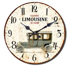 wall clock country vintage retro style shabbyoldtimer coffee wine