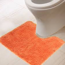 Toilet Mat Orange Bathroom Rugs Home Appliances Decoration