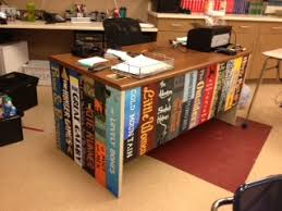 my desk at perfect for an english teacher my