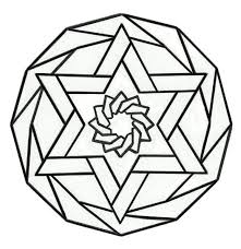 circle pattern colouring in star pattern