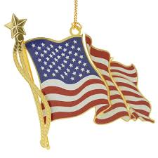 american flag christmas ornament handcrafted in the usa item 54792