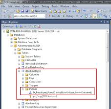 employee table sql queries sql server how to create a nonclustered index within the create