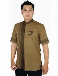 desain baju batik pria 2014 tren model busana batik muslim pria desain terbaru supplier