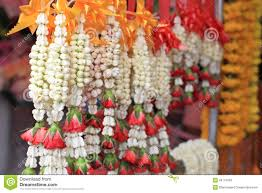 hindu garland thai and garland for pray royalty free stock images