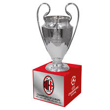 Trophy Pedestal Uefa Champions League Trophy Replica 70 Mm On Wooden Pedestal With