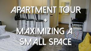 studio apartment tour maximizing a small space youtube