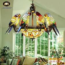stained glass chandelier makernier vintage tiffany style 8 arms