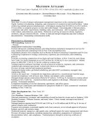 construction project manager resume examples crazy project