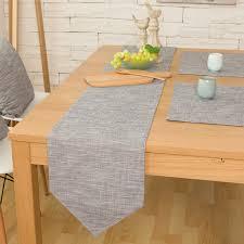 cotton linen grey table runners 30 x 180 cm