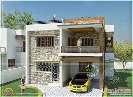 double floor house elevation photos double storied tamilnadu house design home kerala plans