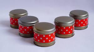 vintage red kitchen tins set of 5 jars storage soviet