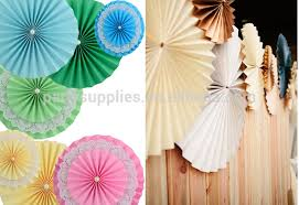 hanging paper fans backdrop hanging paper fans decoration vintage collection flower