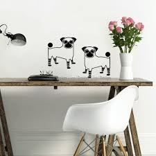 pugs wall decal animals wall decals pugs wall decal