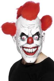 Halloween Costumes Kids Scary Clown Amazon Scary Red Eyed Clown 3 4 Mask Clothing